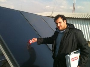 Solar Hot Water Installation , Tehran , Iran